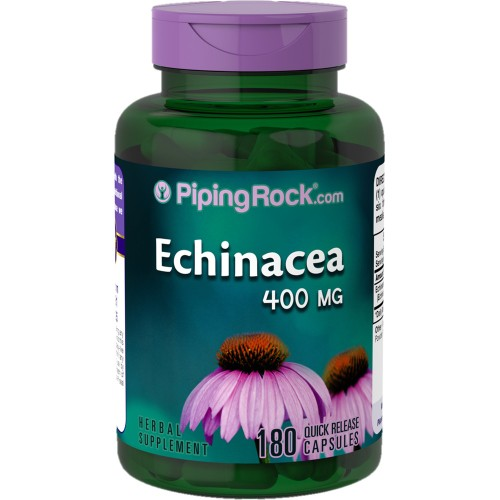 Piping Rock Echinacea 400 mg 180 Quick Release Capsules Herbal Supplement