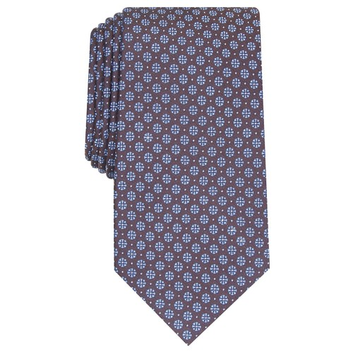 Tasso Elba Men's Classic Neat Silk Tie Blue Size Regular