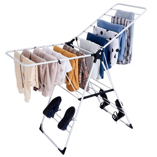 Costway Laundry Clothes Storage Drying Rack Portable Folding Dryer Hanger H