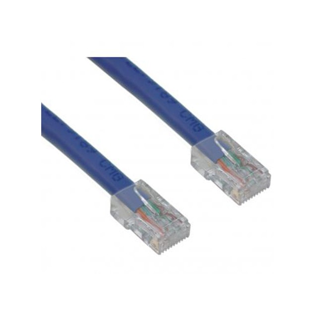 Cat5e Blue Ethernet Patch Cable, Bootless, 3 foot