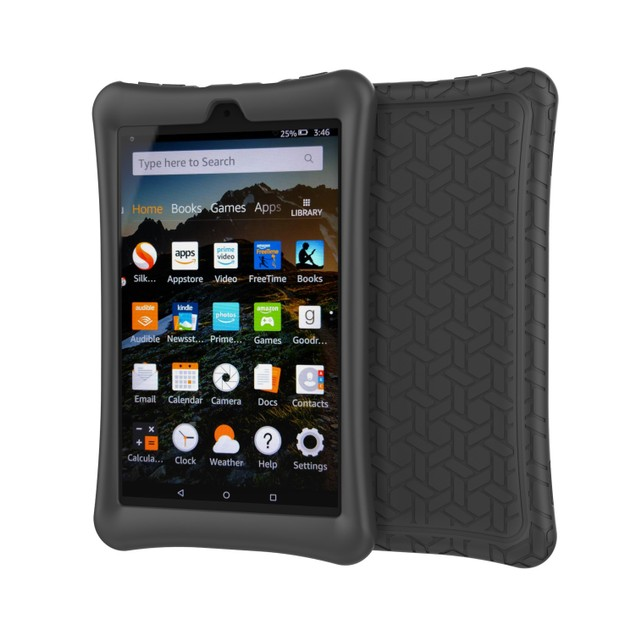 Amazon IPad Case Fire HD 8 Black Protective Silicone Rubber Tablet Cover
