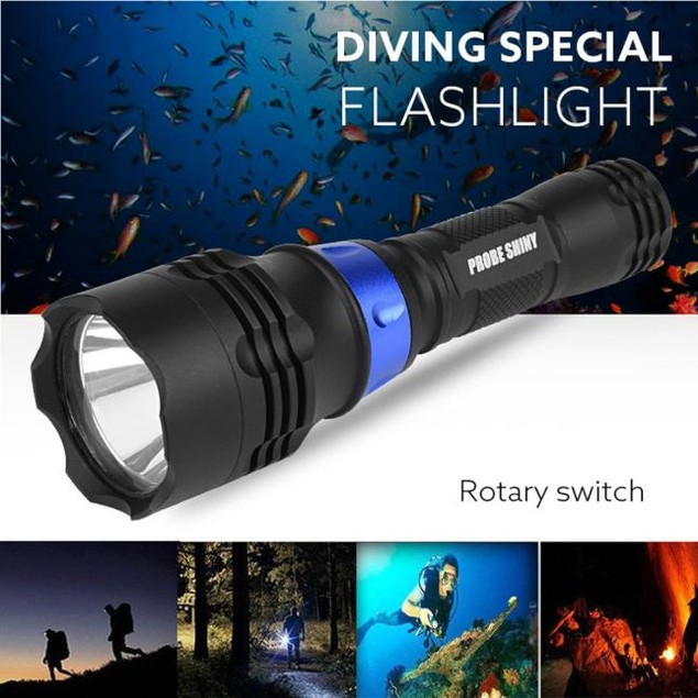 Underwater 500M 5000LM XM-L T6 LED Diving Flashlight Waterproof Torch