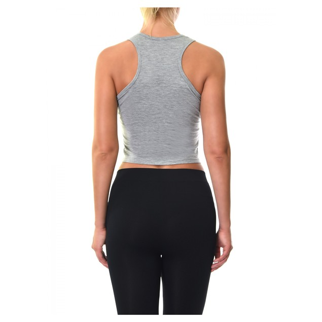 Ladies Racerback Crop Tank Top