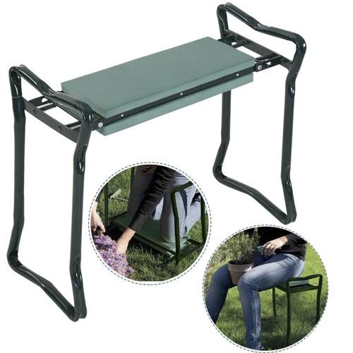 Costway Folding Sturdy Garden Kneeler Gardener Kneeling Pad & Cushion Seat