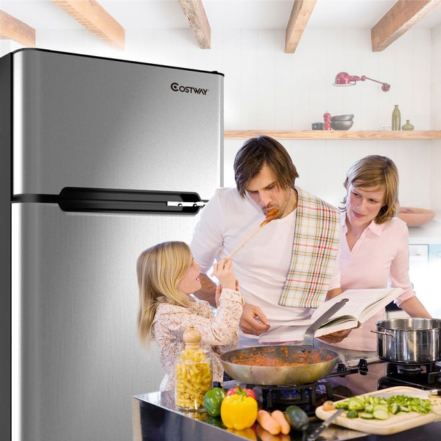 Refrigerator Small Freezer Cooler Fridge Compact 3.2 cu ft. Unit