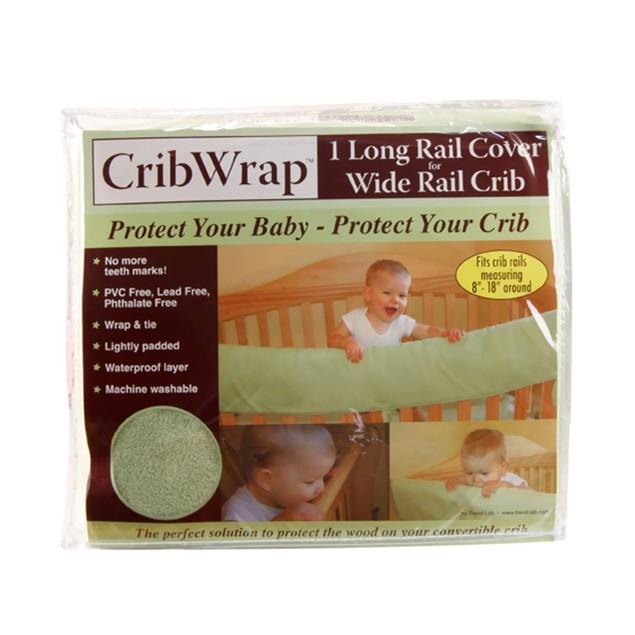 Trend Lab Cribwrap Wide Rail Cover - Long Sage Fleece