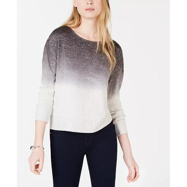 Bar III Women's Dip Dyed Sweater Grey Size XX-Large