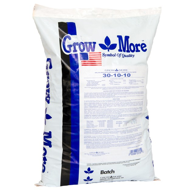 Grow More Water Soluble 30-10-10, 25 lbs