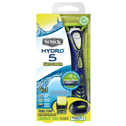Schick Hydro 5 Electric Shaver and 5 Blade Razor for Men with Adjustable C