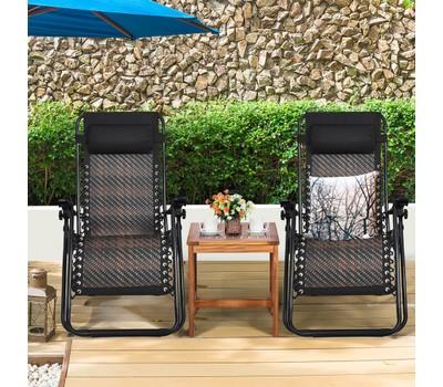 Costway 2PCS Zero Gravity Folding Reclining Lounge Chairs Was: $249.99 Now: $129.99