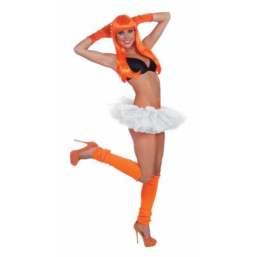 White Adult Tutu Ballerina Ballet Pettiskirt Elastic Costume