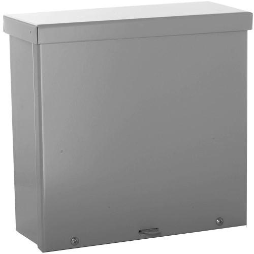 WIEGMANN NEMA 3R Wall-Mount Carbon Steel Screw Cover Pull Box, Gray
