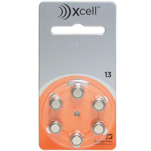 Xcell by Rayovac Size 13 MF Zinc Air Hearing Aid Batteries (60 pack)