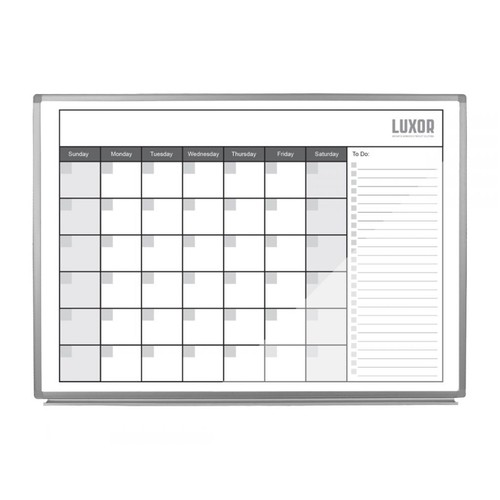"""Luxor 48"""" x 36"""" Magnetic Wall Mounted Dry-Erase Monthly Calendar"""