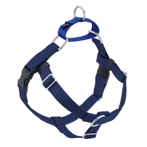 """2 Hounds Design Freedom No-Pull Dog Harness ONLY, Large 1"""", Navy Blue"""