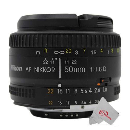 Nikon AF Nikkor 50mm f/1.8D Prime Lens (Black)