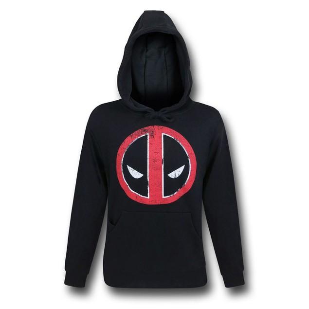 Deadpool Distressed Symbol Pullover Hoodie