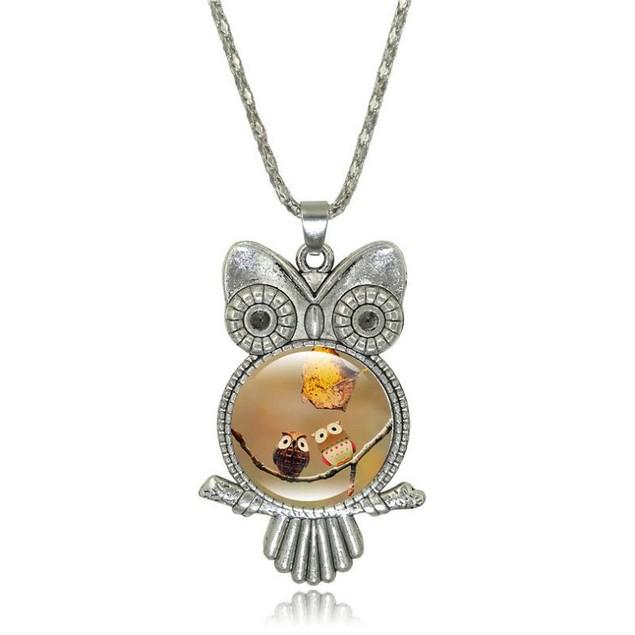 Color Owl Necklace