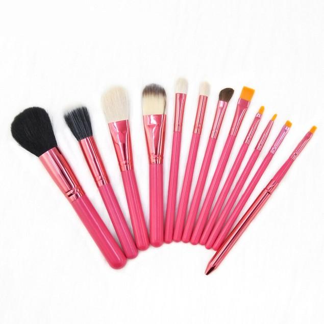 12Pcs Pro Cosmetic Makeup Brushes Set Foundation Kabuki Brushes Tool Kit