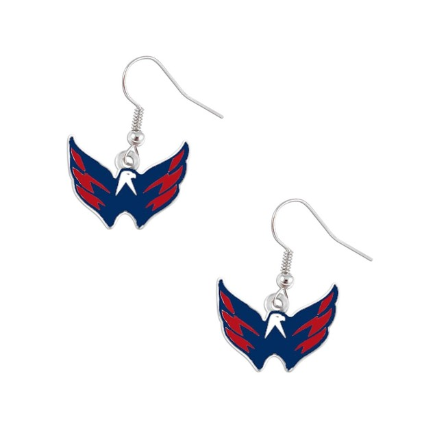 Washington Caps Capitals Dangle Logo Earring Set Charm Gift