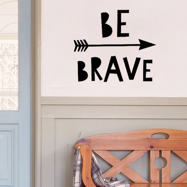 Be Brave Removable Art Vinyl Mural Home Room Decor Wall Stickers