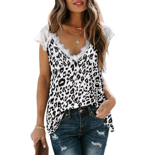Haute Edition V-Neck Lace Flowy Tee