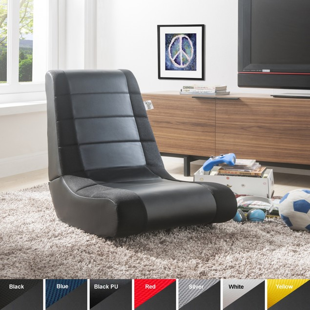 Leather Gaming Chair - Rocking | Foldable | Mesh | Kids, Adults | Loungie