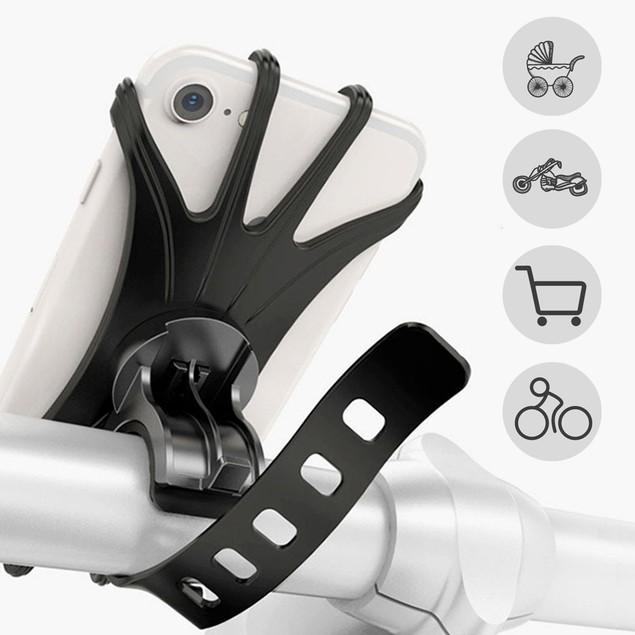 2 Pack Bike Motorcycle Phone Mount Holder 360° Adjustable Handlebar Mount
