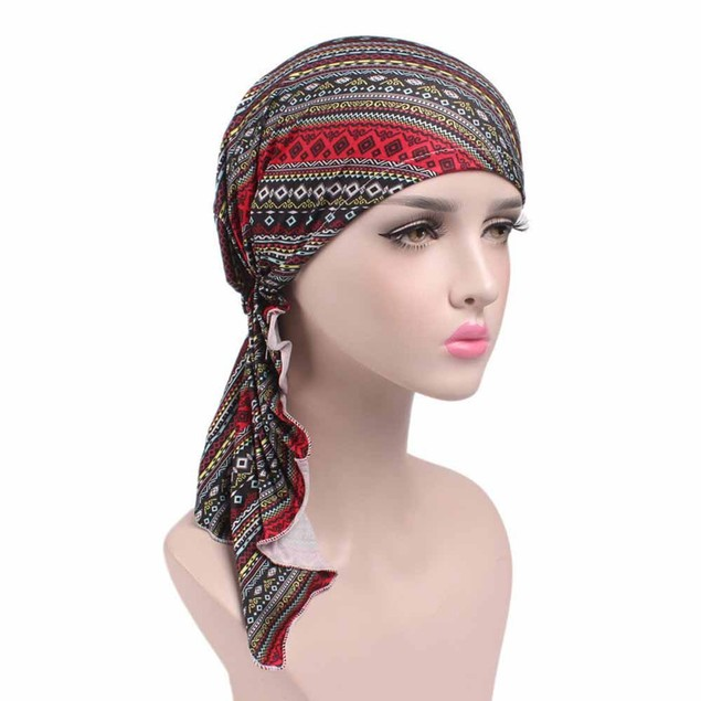 Women's Printed Turban Head Wrap Beanie Scarf
