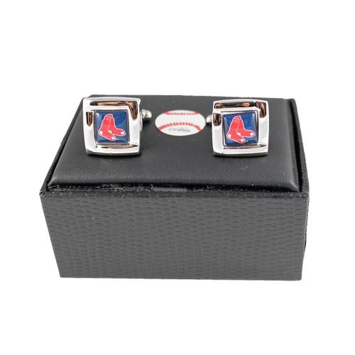 MLB Boston Red Sox Square Cufflinks Gift Box Set