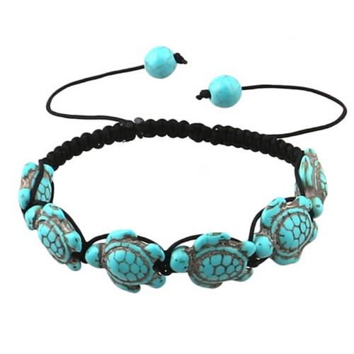 Genuine Handmade Adjustable Turquoise Hawaiian Sea Turtle Bracelet