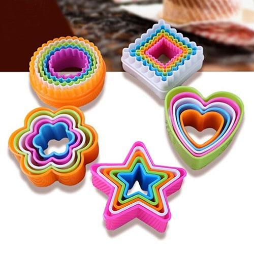10Pcs Cute Baking Accessories Flower Love Heart Mould Fondant Cake Cookie Sugarcraft Cutters Decorating Molds Tool Set