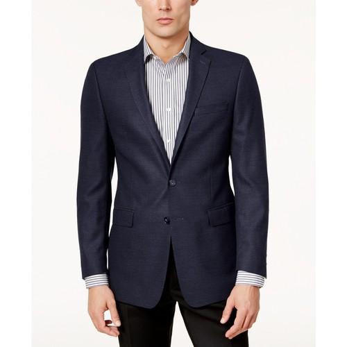 Calvin Klein Men's Slim-Fit Textured Sport Coat Blue Size 44 Regular