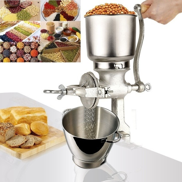 Home Use Hand Cranking Operation Grain Grinder