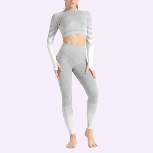 Women's Striped Hip Lift Elastic Fitness Yoga Suit