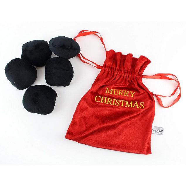 Midlee Bag of Coal Plush Christmas Dog Toy