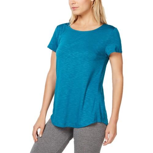 Ideology Women's Cross-Back T-Shirt Jade Vine Size Extra Small