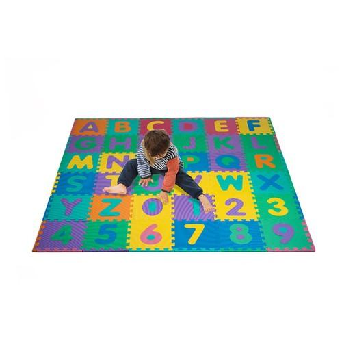 96 PC Foam Floor Alphabet & Number Puzzle Mat For Kids 72 x 72 inches