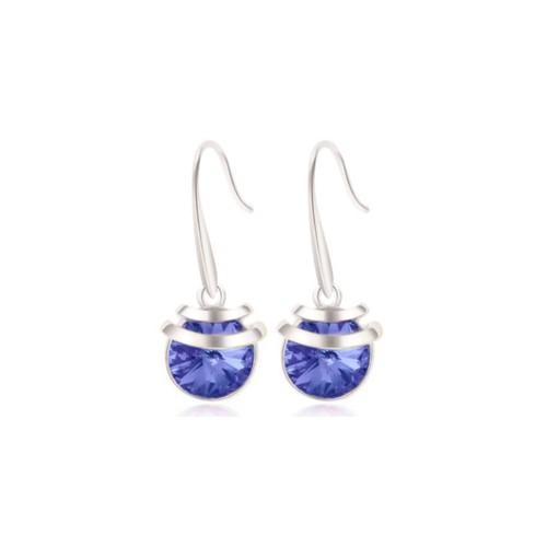 18Kt White Gold Blue Drop Earrings