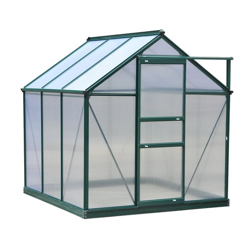 6' x 6' x 7 Greenhouse AluminuM Walk-In Outdoor Plant Garden Polycarbonate
