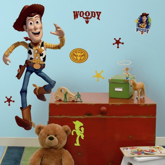 Roommates Wall Decorative Toy Story Woody Giant Peel And Stick Wall Decal