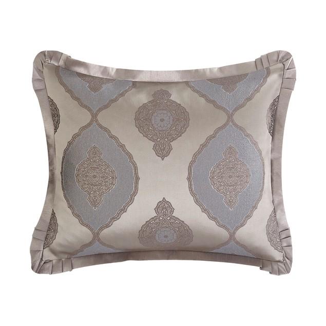 Chic Home 9 Piece Salvi Jacquard Scroll Faux Silk Comforter Set