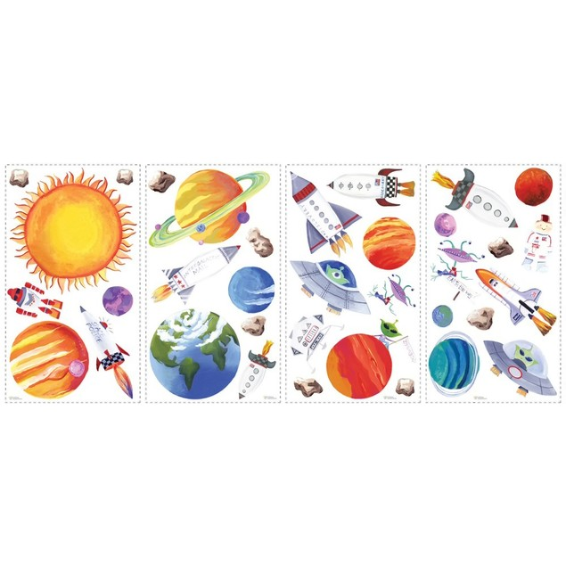 Roommates Baby Room Wall Decor Outer Space Peel And Stick Wall Decals