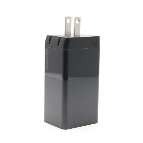 USB Charger 65W 3 Port PD 3.0 Fast Charger Power Delivery Foldable Adapter