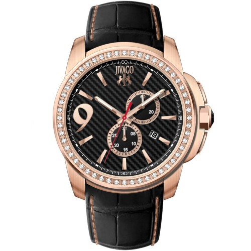 Jivago Men's Gliese Black Dial Watch - JV1530