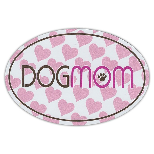 Dog Mom With Hearts Magnet