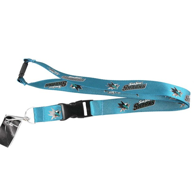 SAN Jose Sharks Clip Lanyard Keychain Id Holder Ticket -Green