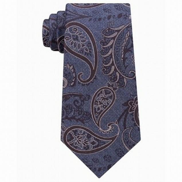 Michael Kors Brown Men's One Paisley Movement Neck Tie Brown Size Regular