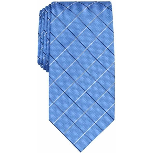 Club Room Men's Classic Grid Tie Navy Size Regular