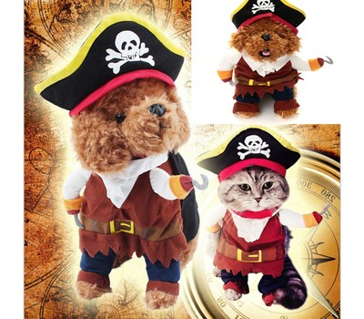 Dog Halloween Pirate Costume Was: $29.99 Now: $15.99.